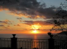 Sunset over the sea of Sanremo Royalty Free Stock Image