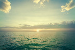 Sunset over sea. Stock Image