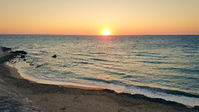 Sunset over the sea in southern Italy a Gallipoli. stock photography