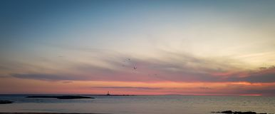 Sunset over the sea in southern Italy a Gallipoli, Italy. stock photography