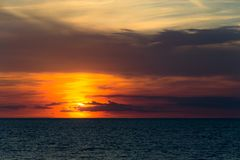 Sunset over the sea in southern Italy a Gallipoli, Italy. stock photos