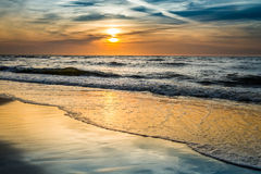 Sunset over the sea in summer Royalty Free Stock Photos