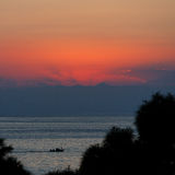 Sunset over sea Royalty Free Stock Photography