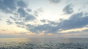 Sunset over the sea. Sunset over the Tyrrhenian sea in Milazzo town, Sicily, Italy. Time Lapse stock footage