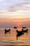 The sunset over sea, Thailand Royalty Free Stock Photo