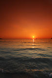 Sunset over sea in Thailand Stock Image