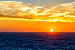 Sunset over sea water Royalty Free Stock Images