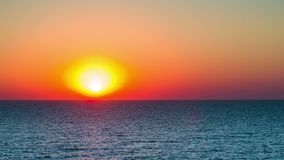 Sunset Over the Sea. Time Lapse stock video footage