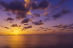 SunSet over Seascape Royalty Free Stock Image