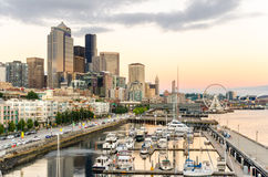 Sunset over Seattle Stock Photography