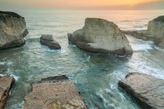 Free Sunset Over Shark Fin Cove Stock Image - 101580871