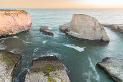 Free Sunset Over Shark Fin Cove Shark Tooth Beach. Royalty Free Stock Photography - 92784547