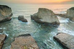 Sunset over Shark Fin Cove Stock Image