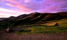 Sunset over Skiddaw Stock Images