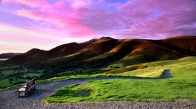 Sunset over Skiddaw Royalty Free Stock Photography