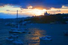 Sunset over Sliema Creek on the island of Malta Royalty Free Stock Photography