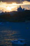 Sunset over Sliema Creek on the island of Malta Stock Photos