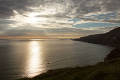Sunset over Slieve league, Ireland Royalty Free Stock Images