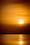 Sunset 2. Sunset over a small lake from Faget forest, near Cluj Napoca, Romania Stock Image