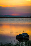 Sunset 5. Sunset over a small lake from Faget forest, near Cluj Napoca, Romania Royalty Free Stock Photos
