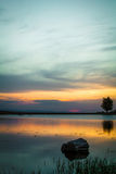 Sunset 6. Sunset over a small lake from Faget forest, near Cluj Napoca, Romania Royalty Free Stock Photography