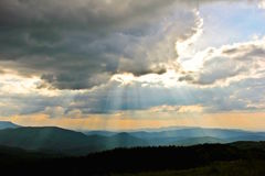 Sunset over the Smoky Mountains Royalty Free Stock Image