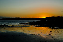 Sunset over the solway. Sunsets over the Solway firth, Dumfries and Galloway Royalty Free Stock Photo