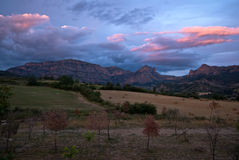 Sunset over the Spanish Pyrenees Royalty Free Stock Photography