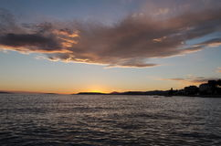 Sunset Over Split, Croatia Royalty Free Stock Photography