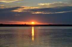 Sunset over St. Augustine river Royalty Free Stock Image