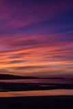 Sunset. The sunset over St ives from Hayle in Cornwall Royalty Free Stock Images