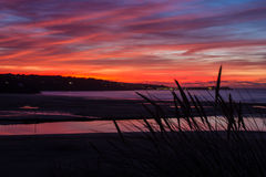 Sunset. The sunset over St ives from Hayle in Cornwall Royalty Free Stock Photo