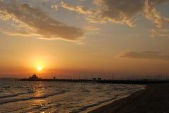 Sunset over St Kilda. The sunset over St Kilda Beach, Melbourne, Victoria, Australia Royalty Free Stock Photos