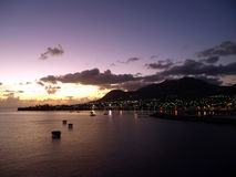 Sunset over St. Kitts Stock Images
