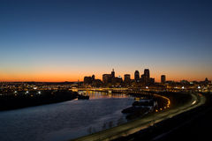 Sunset over St. Paul Minnesota Royalty Free Stock Image