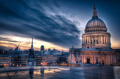 Sunset over St Paul's royalty free stock images