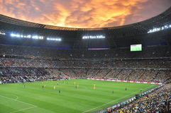 Sunset over the stadium Royalty Free Stock Photos