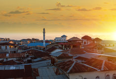 Sunset over stone town zanzibar Stock Photo