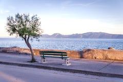 Sunset over Sucuraj on Hvar island, Croatia Royalty Free Stock Photo