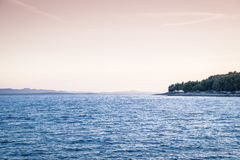 Sunset over Sucuraj on Hvar island, Croatia Royalty Free Stock Images