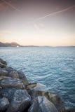 Sunset over Sucuraj on Hvar island, Croatia Stock Images