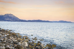 Sunset over Sucuraj on Hvar island, Croatia Royalty Free Stock Image