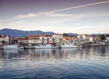 Sunset over Sucuraj on Hvar island, Croatia Stock Image