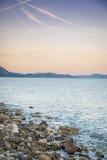 Sunset over Sucuraj on Hvar island, Croatia Stock Photo
