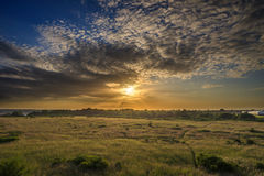 Sunset over Suffolk Countryside Royalty Free Stock Images