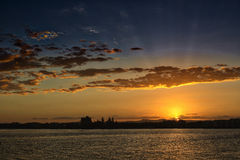 Sunset over the Sunshine Coast, Queensland Stock Photography