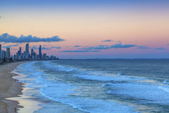 Sunset over Surfers Paradise on the Gold Coast Royalty Free Stock Photo
