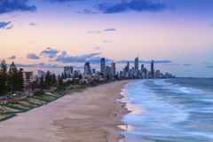Sunset over Surfers Paradise on the Gold Coast Stock Photos