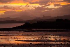 Sunset over Suva Bay, Fiji stock image