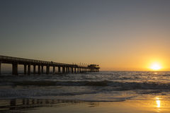Sunset over Swakopmund Jetty Stock Photos